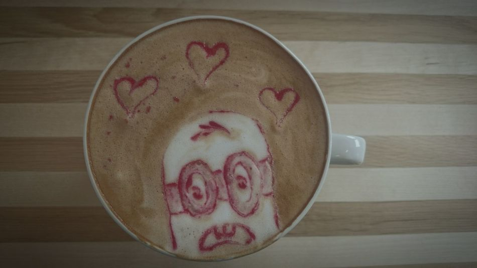 Latteart Minions Hearts Minions ™ Mood Of The Day Just Something View From Above First Eyeem Photo Smile ✌ At Work With Love Love My Job Caffe Time Visual Feast