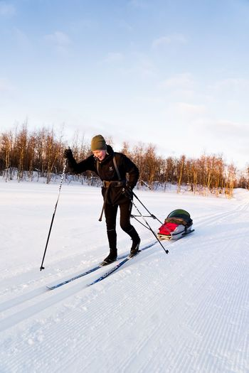 Crosscountry Skiing Snow Winter Cold Temperature Winter Sport Ski Pole Skiing Sport Ski Holiday Sky
