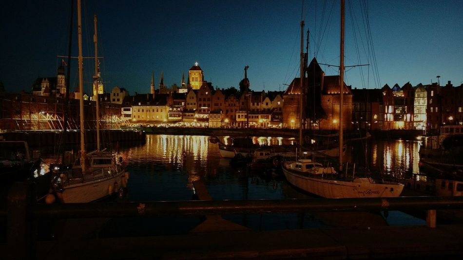 Gdańsk. Night Water Motława Night City River Live For The Story HUAWEI Photo Award: After Dark
