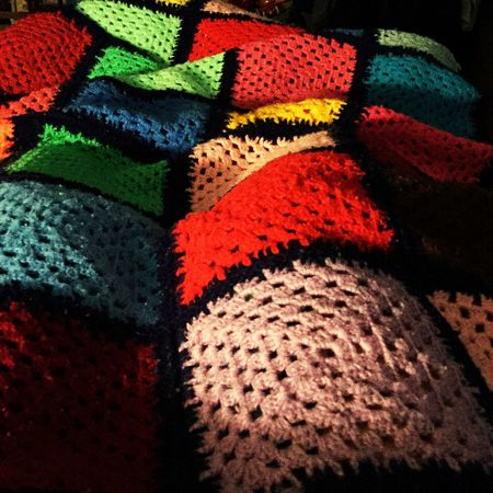 Under the blanket.... With? Relaxing