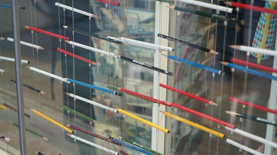 Tokyo Ginza Shop Design Colorful Itoya Stationary Pencil MD Showwindow MD Showwindow