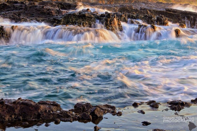 Slow Shutter Water_collection Morning Hawaii