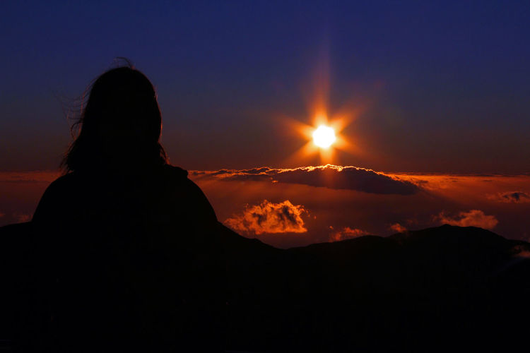 Pico Do Arieiro Beauty In Nature Day Leisure Activity Madeira Mountain Nature One Person Outdoors People Real People Rear View Scenics Silhouette Silhouette Sky Sun Sunset Tranquil Scene Tranquility Travel Travel Destinations Mix Yourself A Good Time