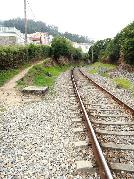 Railroad Track Rail Transportation The Way Forward Day Outdoors No People Tree Nature Sky