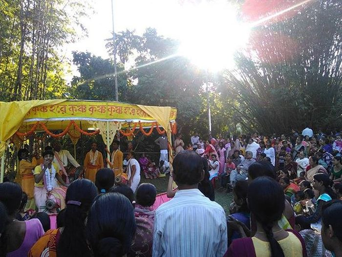 If you come here and wish something, it will definitely come true. Goddess Durga's worship place. Lalsha_bari GoddessDurga Lakshmisahar Hailakandi Puja Hinduism