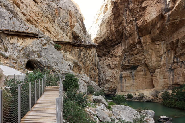 Alfonso XIII Beauty In Nature Caminito Del Rey Day Mountains Nature Nature Photography Nature_collection Outdoors Panoramic Photography Pantano Pasarelas Pasarelas Colgantes Rocky Mountains Scenics Steps Tourism Tranquil Scene Tranquility Water