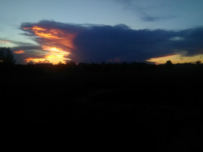 Sunset Nature Power In Nature Sounds Of Silence Iof The Setting Sun...