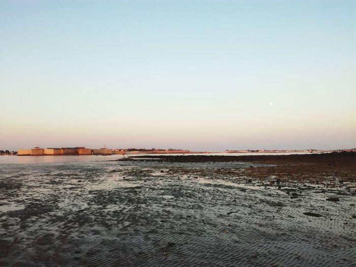 Scenics Salt Basin Outdoors Beauty In Nature No People Salt - Mineral Journey Coastline Sunrise Moon Fortified Wall Harbor