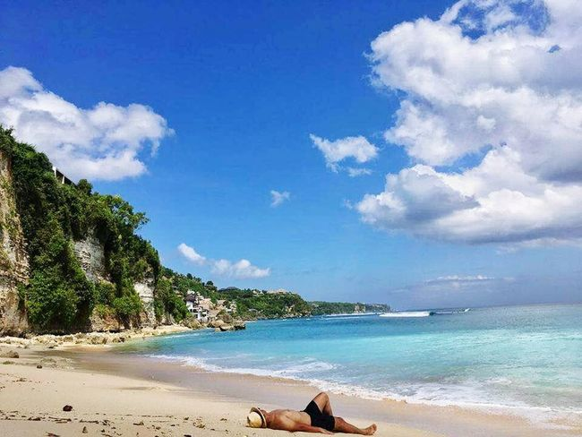 Beach Sand Sea Tropical Climate Vacations Cloud - Sky Sky Blue Water Sunny Idyllic Tree Nature Travel Destinations Summer Beauty In Nature Tranquility Landscape Relaxation Tranquil Scene Bythesea Binginbeach Bali, Indonesia Bali Beach Relax