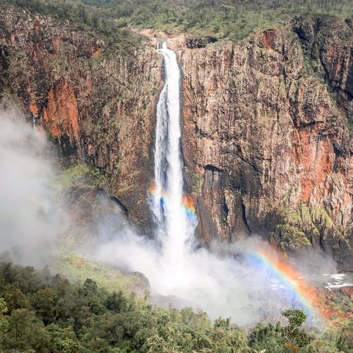 Wallaman falls Waterfall Rainbow Motion Beauty In Nature Water Scenics - Nature Nature Day Springtime Decadence Sunlight High Angle View Landscape Outdoors Springtime Decadence Springtime Decadence