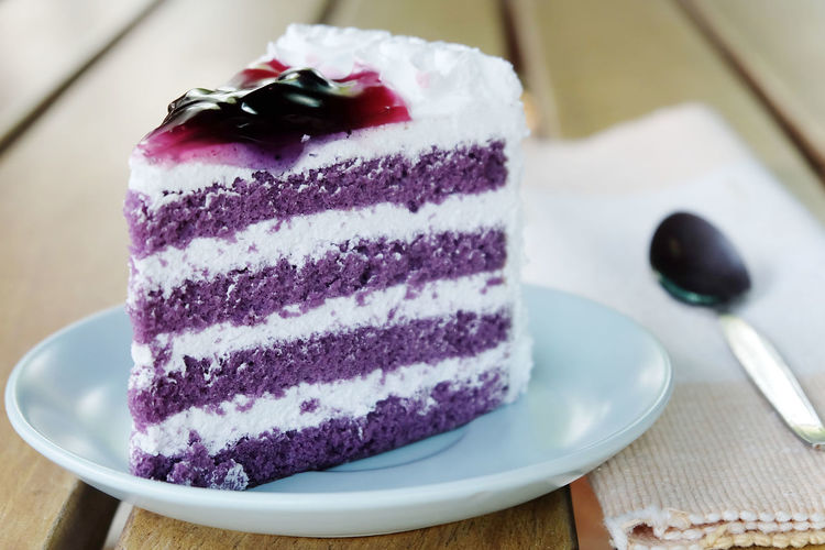 blueberry cake with spoon on the table Baked Cake Cheesecake Close-up Day Dessert Food Food And Drink Freshness Indoors  Indulgence No People Pastry Dough Plate Ready-to-eat Slice Of Cake Sweet Food Sweet Pie Table Tart - Dessert Temptation Toasted Bread