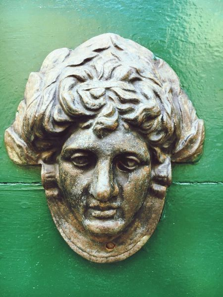 Face Art Is Everywhere Renaissance Brass Minimalism Face On A Wall Sad Sadness Despondent Sculpted