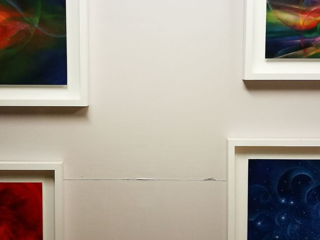 Art Art Exhibition Summer Nights Paintings The white space between the colors