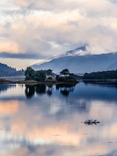 Loch Leven, Ballachulish, Scotland Beauty In Nature Bliss Calm Cloud Cloud - Sky Cloudscape Idyllic Lake Loch  Loch Leven Moody Sky Mountain Nature No People Non-urban Scene Reflection Scenics Scotland Sea Sky Solitude Tranquil Scene Tranquility VisitScotland Water