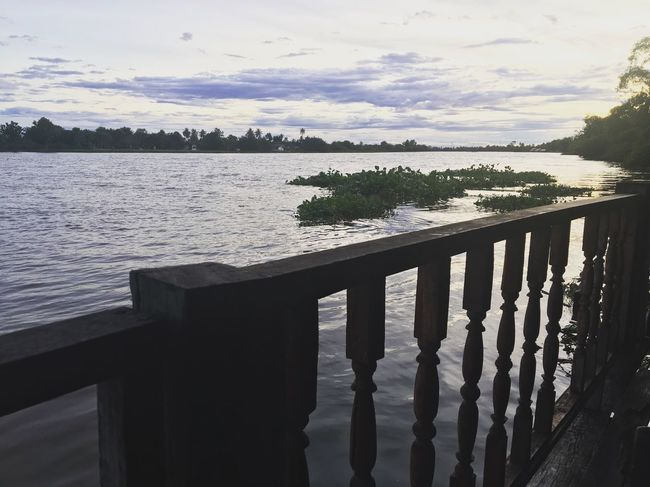 Water Sky Lake Pier Railing Nature Tranquility Wood - Material Tranquil Scene No People Beauty In Nature Day Outdoors Scenics Tree