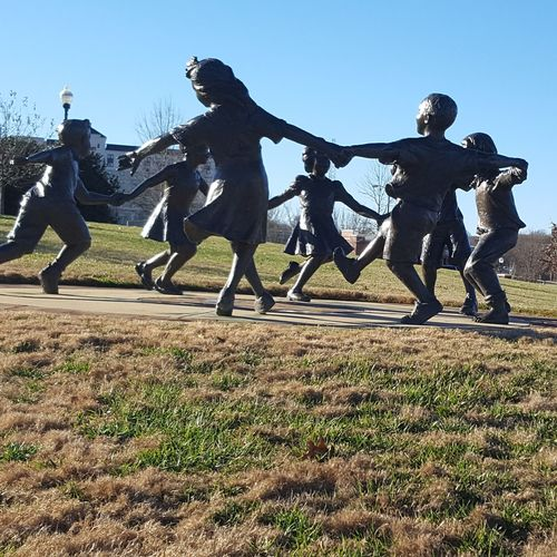 Ring Around the Rosie Full Length People Men Outdoors Sky Young Adult Day Love Where You Live Spartanburg, SC Lets Go For A Walk Ring Around The Rosie Statues Kids Park