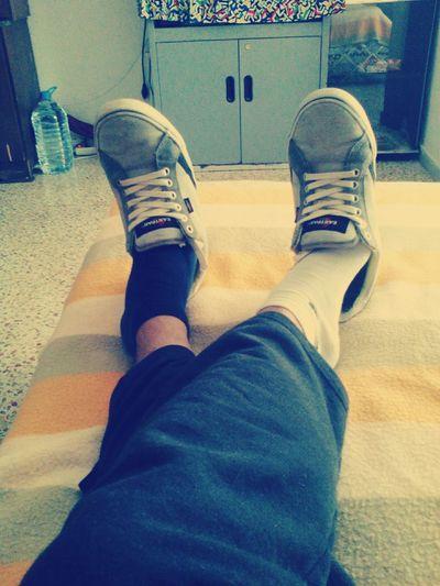 Aburrido Zapatos Calcetines Colores XD Cama