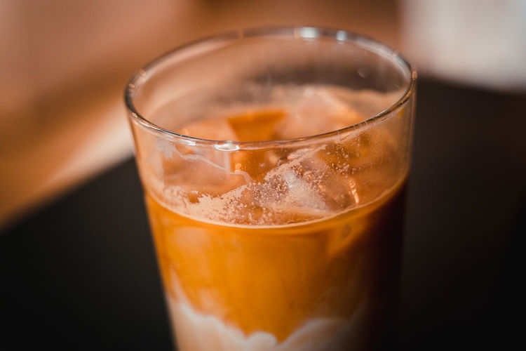 Coffee Stains Alcohol Close-up Cold Temperature Drink Drinking Glass Focus On Foreground Food Food And Drink Freshness Frozen Glass Household Equipment Ice Ice Cube Indoors  No People Non-alcoholic Beverage Refreshment Still Life Table