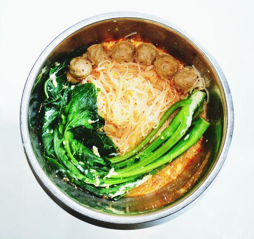 Food Noodles Vegetables Ball Bowl