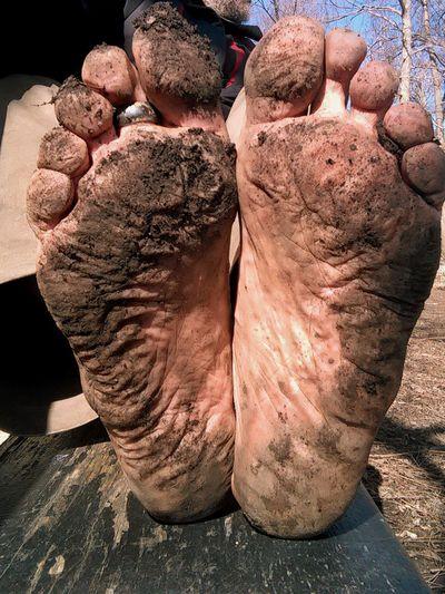 Barefoot on the road Soles My Feet Feet Soles Bare Feet Barefoot Hiking Feetselfies Footfetish Dirty Feet Menfeet Male Feet