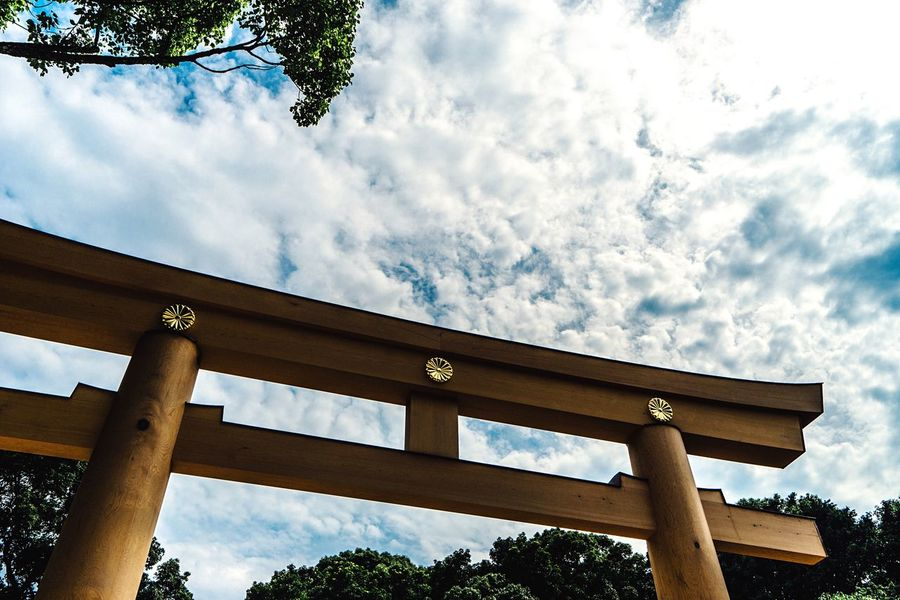 TORII Shinto Shrine Sanctuary In The City Wooden Gate From My Point Of View Clouds And Sky Meiji-Jingu Entrance Gate Eye4photography  Summer Sky And Clouds Tokyo Tokyo,Japan July July 2017