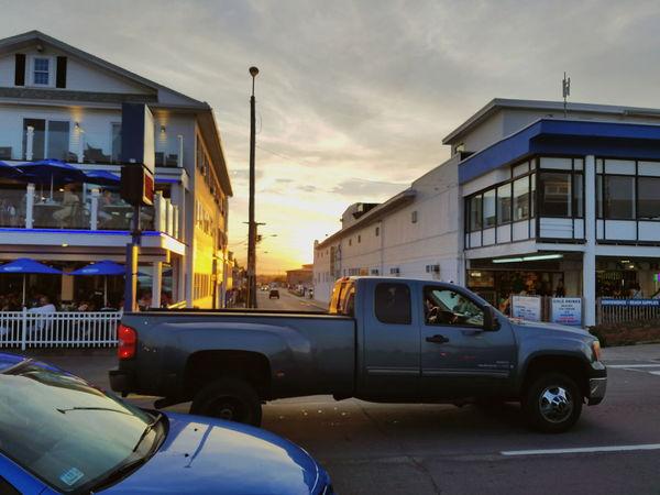 Car Sunset Built Structure City Sky Day NH Hampton Beach Architecture Cloud - Sky Samsung Galaxy S7