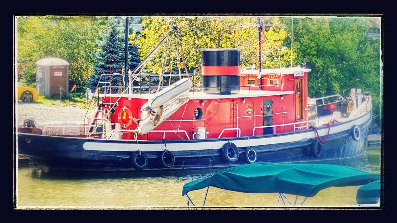 transportation, no people, mode of transport, day, nautical vessel, tree, outdoors, moored, nature