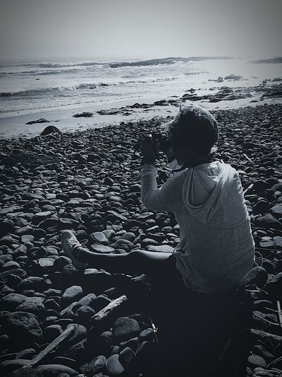 Taking Shots of the Ocean ❤🌊 Florence Coast Oregon That's Me B&W Portrait B&W Collection Ocean❤ Pacific Northwest  Enjoying Life Beach Trip Spring/Summer 2015