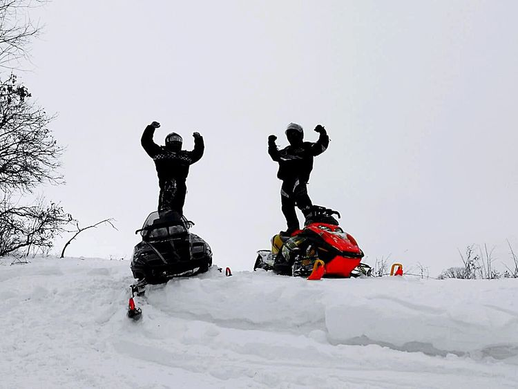 Thats Me  Snowmobiling in Northern Minnesota. with my Best Buddy Enjoying Life Adrenaline Junkies Lovin Life Follow Me