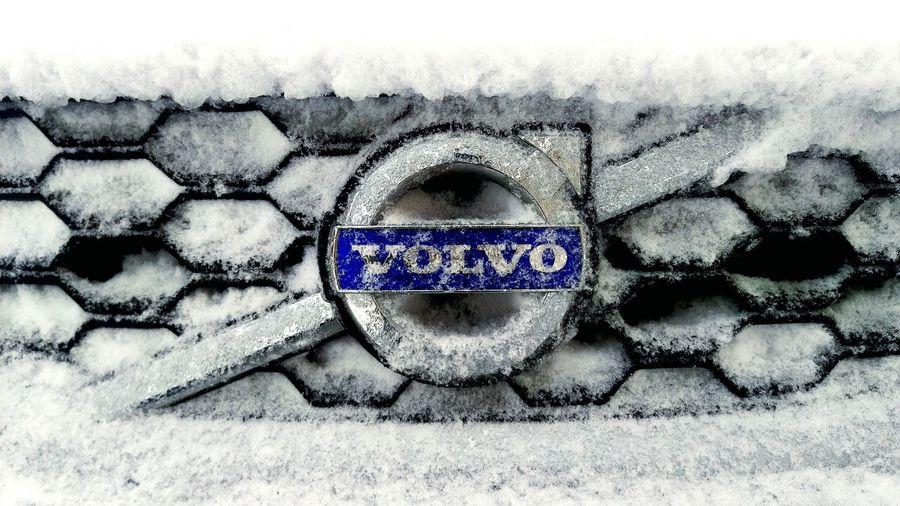 Close-up Winter Volvo Volvocars VolvoC30 Frozen Frozen Car Snow Snow Covered Snow Storm Volvo Logo EyeEm Best Shots EyeEmBestPics Eyeem Market No People