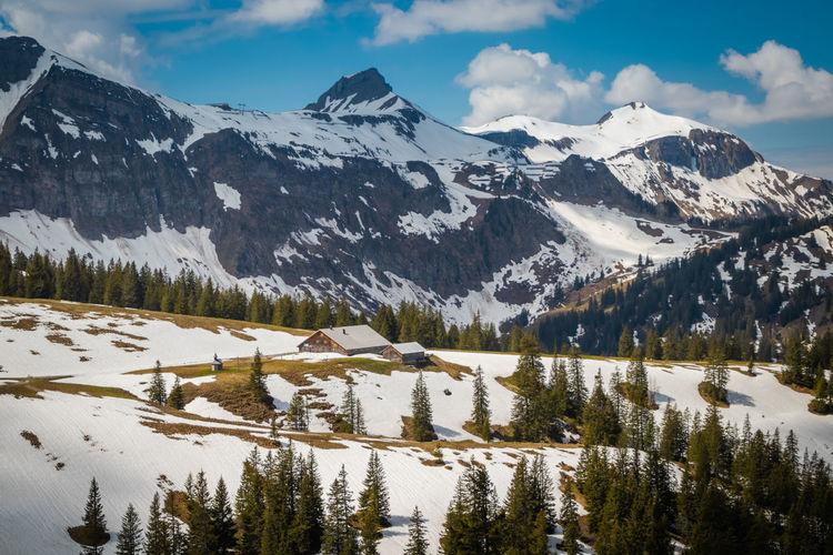 Beautiful mountain landscape in mellau, vorarlberg austria