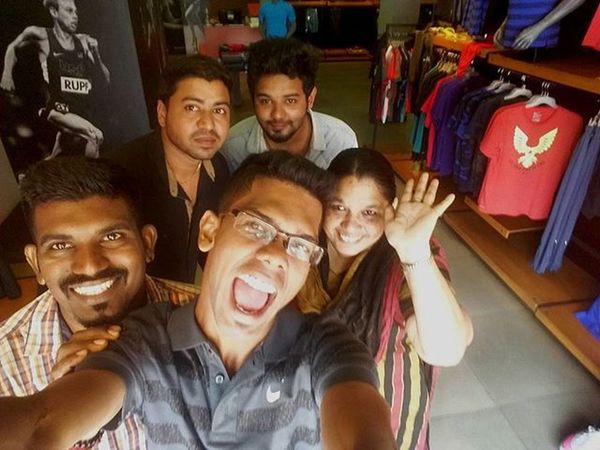 Nike Selfie with Royce Arvind Sami and Anty