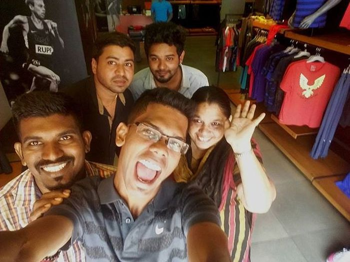 Nike Selfie with Royce Arvind Sami and Anty
