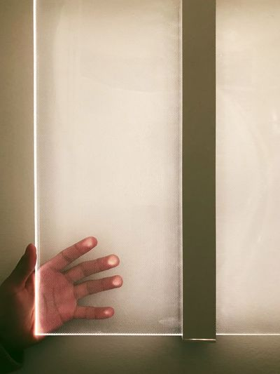 Human Body Part Hand Human Hand Indoors  One Person Window Close-up Architecture Body Part Built Structure