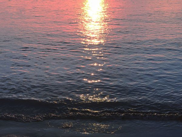 Sunset Water Reflection Nature Sea Beauty In Nature Sun Tranquil Scene Scenics Tranquility Waterfront Rippled No People Outdoors Sunlight Beach Wave EyeEm Ready