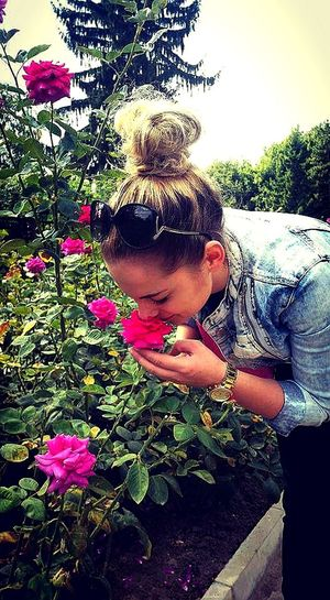 That's Me Rose Garden Nature Beautiful City Park Garden