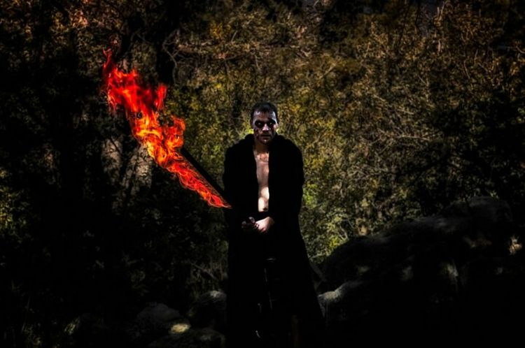 Game of thrones inspired. Fire And Flames Zombie White Walker Game Of Thrones Woman Photographer Fine Art Photography Helloworld Check This Out