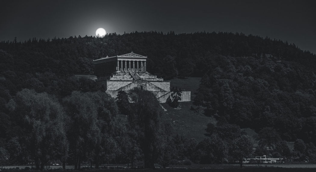 Walhalla Memorial, in the near of Regensburg, Bavaria/Germany Attilaphotographie Travel Architecture Beauty In Nature Building Building Exterior Built Structure Canon Full Moon History Moon Moonlight Nature Night No People Outdoor Photography Outdoors Plant Scenics - Nature Sky The Past Travel Destinations Tree Walhalla Memorial Water