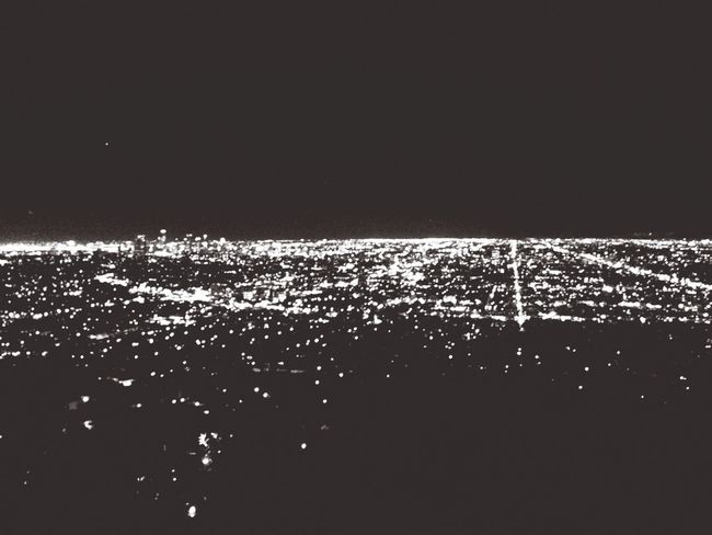 Beautiful view L.A City Night Lights Night Griffith Observatory