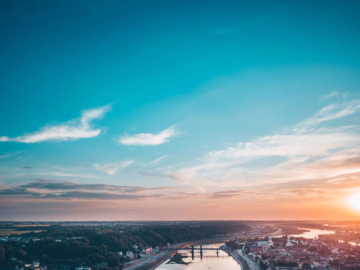 City skyline City Skyline DJI X Eyeem Drone  Aerial Architecture Beauty In Nature Blue Bridge Bridge - Man Made Structure Building Exterior Built Structure City Cityscape Cloud - Sky Connection Mavic Mavic Pro Nature No People Outdoors Scenics - Nature Sky Sunset Transportation Water