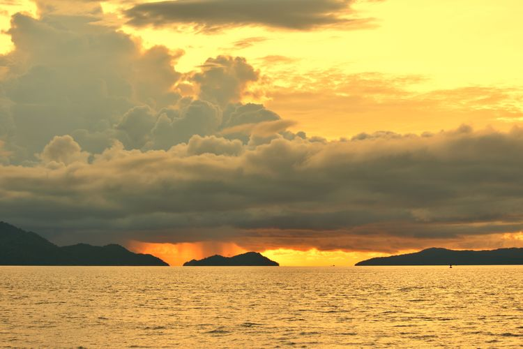 dark sky and ocean storm Aceh Culture Aceh INDONESIA Fish Photography Fisherman Fishing Water Mountain Sea Sunset Yellow Beach City Summer Sunlight Sand
