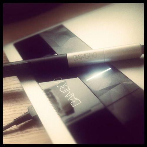 Новая игрушка Graphics Tablet Wacom Bamboo work pen