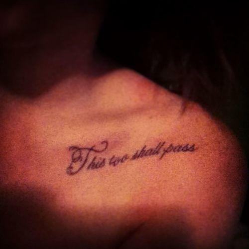 New tattoo. #seven #collarbone