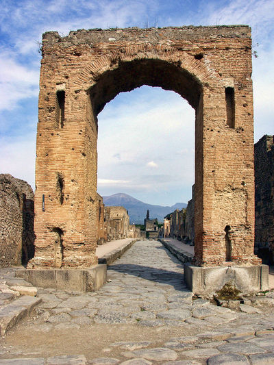 Pompeii  Ancient Ancient Civilization Ancient History Arch Arch Of Caligula Archaeology Built Structure History Old Ruin Travel Destinations Vesuvius