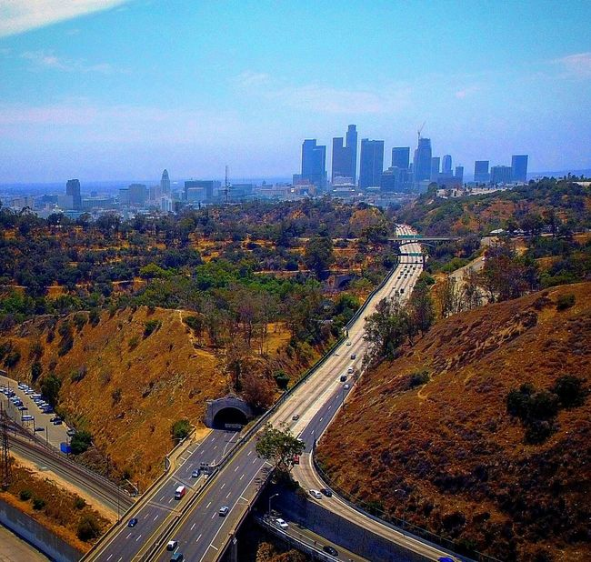 110fwy DowntownLA California Losangeles Cityofangles ABird'sEyeView