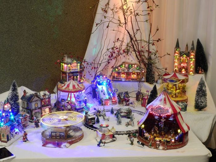 Tradition Chistmas Village Chismas Indoors  Illuminated Table Christmas Decoration Night No People