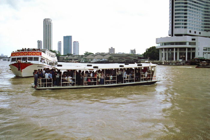 Packed Ferries on Mae Nam chao Phrayal River Bang Boat City Composition Day Ferries Ferry Mae Nam Chao Phrayal River Mode Of Transport Nautical Vessel Outdoor Photography Passenger Craft People Real People Rippled River Terminal Thailand Transportation Travel Water Waterfront White Clouds