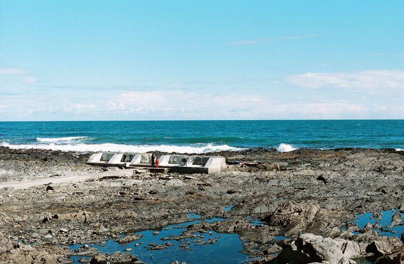 Cape Town South Africa Sea Point Beach Horizon Over Water Sea Blue Nature Sky Sea Memorial X300 Minolta X300 Minolta Kodak Portra Rocks Break The Mold
