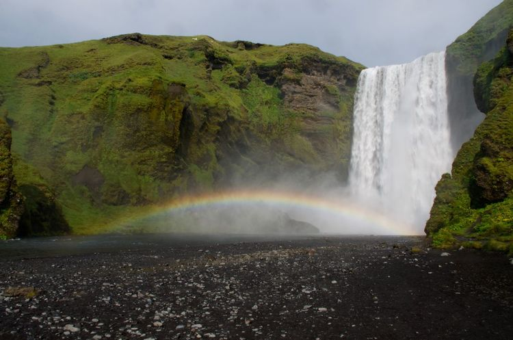 Beauty In Nature Iceland Majestic Nature Outdoors Power In Nature Rainbow Waterfall Skogafoss