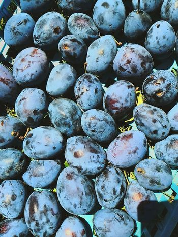 Backgrounds Blue Fruit Summer Plums